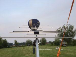 Antenne tijdens velddagen